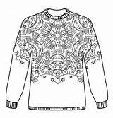 Christmas Jumpers Pattern Colouring Jumper Coloring Adult Pages Patterns Kleurplaat Hobbycraft Sweater Draw Sweaters Crafts Sheets Nl Craft Topkleurplaat Volwassenen sketch template