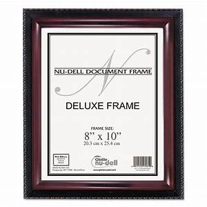 Nudell 17401 executive document frame plastic 8 x 10 for Mahogany document frame