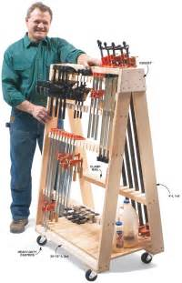 Lumber Storage Rack Plans Free by Mobile Clamp Rack Popular Woodworking Magazine