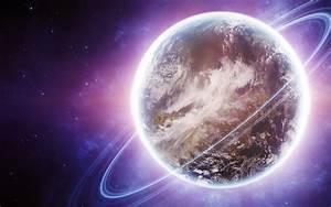 Planet Rings & Purple Space wallpapers | Planet Rings ...