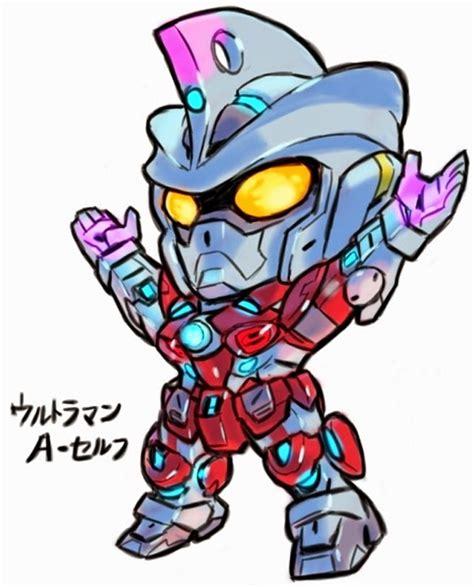 GUNDAM x ULTRAMAN - Artwork by 油屋とんび [Part 1] | Gundam art ...