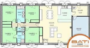 plan de maison 4 chambres et garage With plan maison en ligne 4 plan daccas les pyrenees cest ici