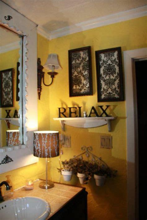 black and yellow bathroom home decor