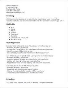 Child Resume by Professional Child Care Provider Templates To Showcase Your Talent Myperfectresume