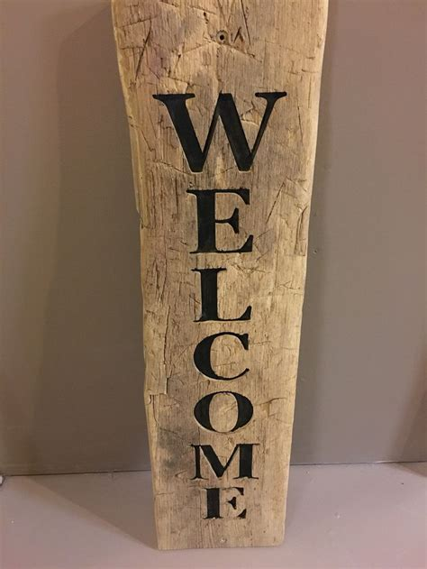 welcoming   cnc routed sign