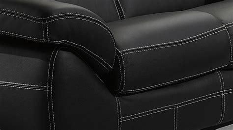 couture canapé cuir canapé italien 3 places en cuir noir canapé pas cher
