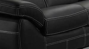 Canape italien 2 places en cuir noir canape pas cher for Tapis enfant avec coudre un canapé en cuir