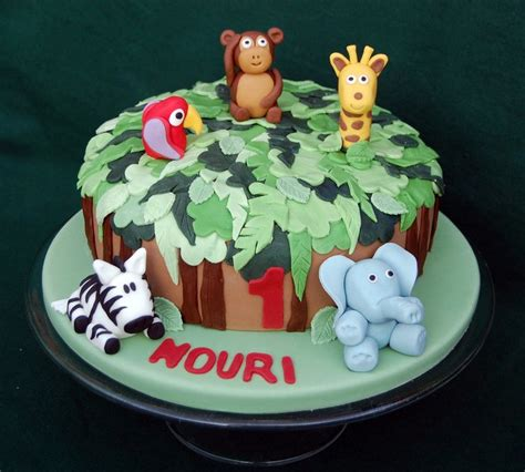 jungle animals birthday cake vanilla frost cakes