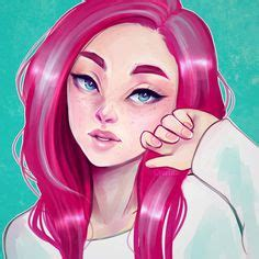pink hair styles ponytail by cyarin on deviantart cool drawings 8749
