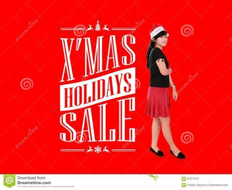 xmas holiday sale ad illustration stock illustration
