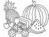 Coloring Pages Basket Vegetable Printable Fruit Print Getcolorings Apple Colo sketch template