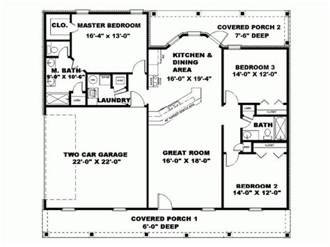 nice floor plan  square foot country house plans ohio google search ranch style house plans