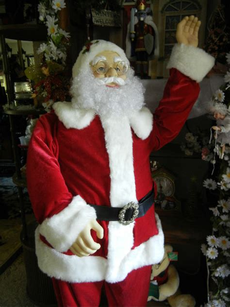 life size santa claus animated size deluxe 5 foot santa claus sings dances prop ebay