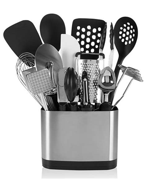 oxo utensil holder oxo 15 kitchen utensil set kitchen gadgets 1358
