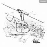 Skilift Cartoonstock sketch template