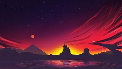 4k Sunset Minimal Landscape Wallpapers Minimalist Backgrounds