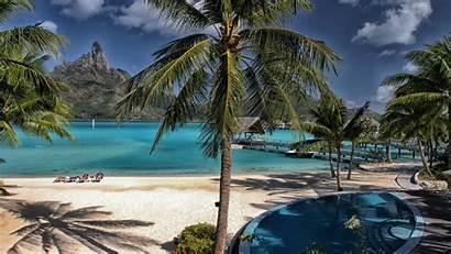 Tropical Desktop Resort Maldives Background Backgrounds Wallpapers