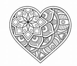 Einzigartig Ausmalbilder Herzen Mandala