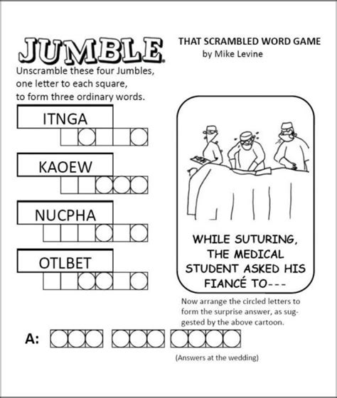 Large print free printable jumble puzzles printable. 5 Best Daily Jumble Word Puzzle Printable - printablee.com