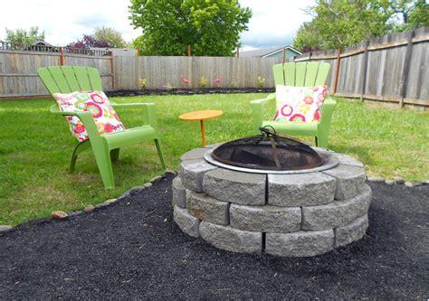 crushed rock patio abby backyard makeover diy crushed rock patio
