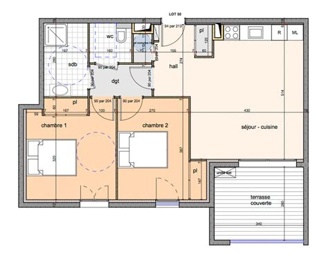 plan chambre dressing salle de bain appartement neuf t3 en corse casaluna immobilier