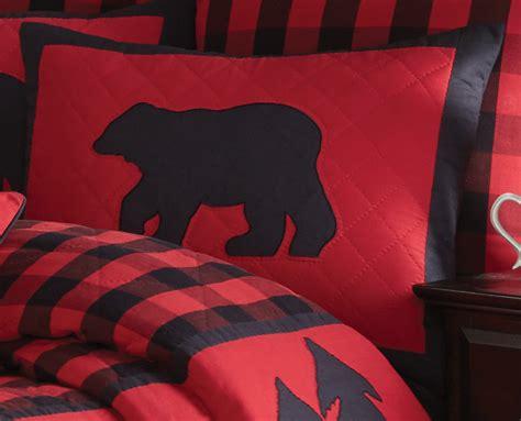 rustic bedding buffalo check standard shamblack forest decor