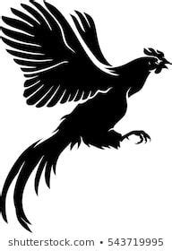 foto de Rooster Flying Silhouette in 2020 Rooster tattoo