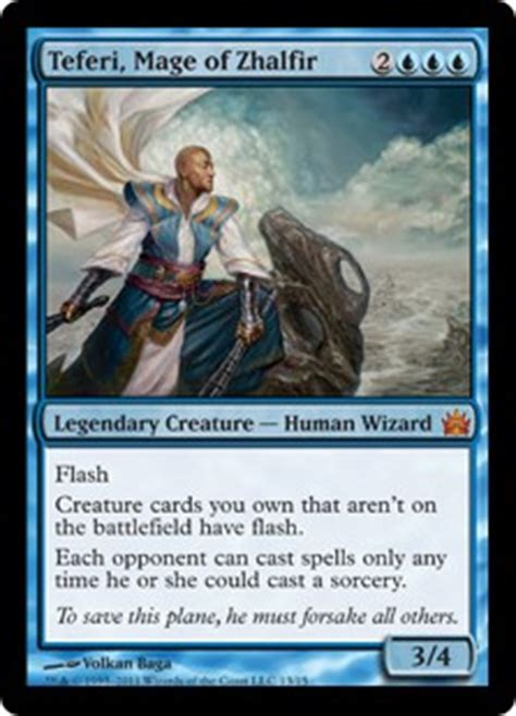 Teferi Commander Deck Upgrade by Teferi Mage Of Zhalfir From The Vault Legends