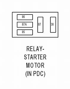 Jeep Commander Starter Relay Wire