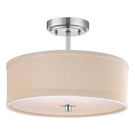 drum shade ceiling light chrome drum ceiling light with cream linen shade 14