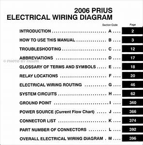2006 Toyota Prius Wiring Diagram Manual Original