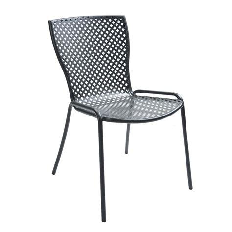 chaises métal rig21s chaise en métal empilable pour le jardin sediarreda