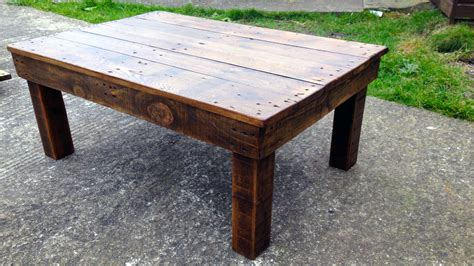 bearwoodwork how to make a coffee table from reclaimed