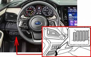 Fuse Box Diagram Subaru Legacy    Outback  2020