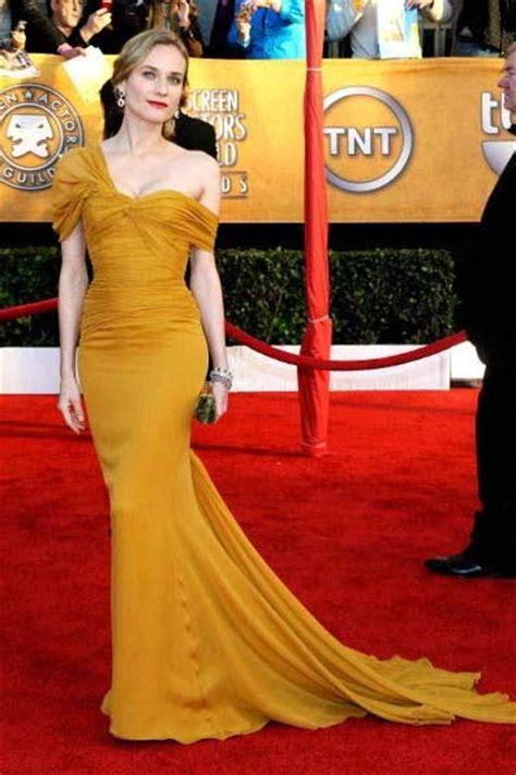 Diane Kruger Yellow Chiffon Formal  Ee  Dress Ee    Sag A Rds