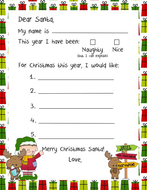 santa claus letter 20 letters to santa and printable envelopes 11808