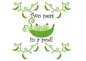 Two Peas Pod Twins Clip Art