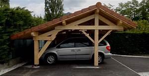 Abri Voiture En Bois : abri voiture annexe bois ~ Nature-et-papiers.com Idées de Décoration
