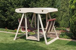 Poly Double Rollback Lawn Swing - Peaceful Valley Amish