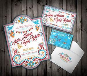 mexican wedding invitation set colorful latin With the wedding invitation online latino