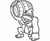 Donkey Kong Arcade Machine Coloring Template Drawing sketch template