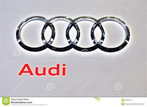 audi logo editorial photo image  modern luxury cars