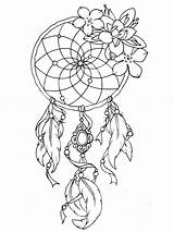Tattoo Dreamcatcher Coloring Designs Tattoos Tatoo Pages Adult sketch template