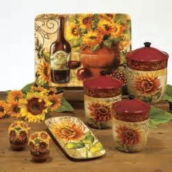sunflower canister sets kitchen tuscan sunflower kitchen decor for the home
