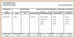10 pay stub template for 1099 employee simple salary slip With 1099 pay stub template free