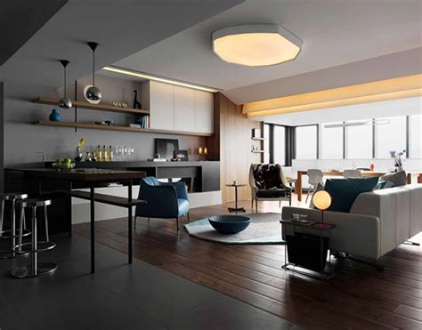 A White And Wood House For A Stylish Family by Warm L Grey Floor With Modern Glasses Door Can Add The