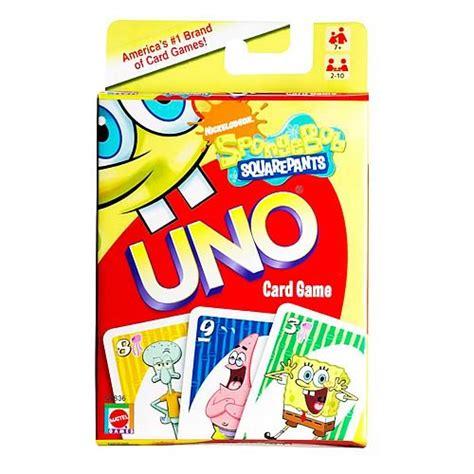 play spongebob deck spongebob squarepants uno card mattel spongebob