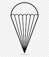 Parachute Coloring Clipart Line Pinclipart sketch template