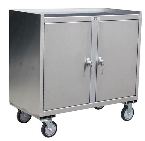 Stainless Steel Rolling Cabinet by Jamco Mobile Cabinet Workbench Stainless Steel 21 Quot Depth