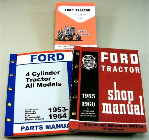 lot ford   series tractor owner operator parts